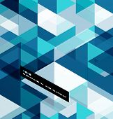 stock photo of geometric  - Modern geometrical abstract vector template - JPG