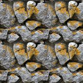 Seamless Tile Pattern Of A Stone Wall