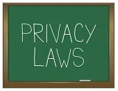 Privacy Laws Concept.