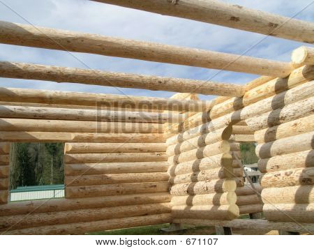 Picture Or Photo Of Interior Wall And Initial Roof Beams