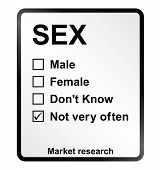 foto of intercourse  - Monochrome market research sex sign isolated on white background - JPG