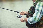 image of fly rod  - Fisherman - JPG