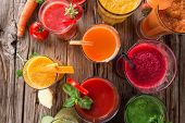 stock photo of orange-juice  - Fresh fruit juice - JPG