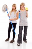 picture of cleaning agents  - Ready for domestic work  - JPG