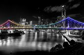 Постер, плакат: Brisbane Story Bridge by Night