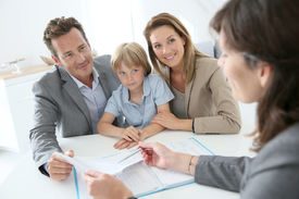 stock photo of family planning  - Family meeting real - JPG