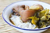 stock photo of thai cuisine  - Pork stewed in the sweet gravy Chinese - JPG