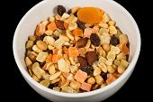 picture of mixture  - A closeup to a mixture of dried fruit and nuts - JPG