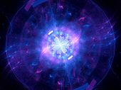 stock photo of higgs boson  - Glowing Higgs boson computer generated abstract background - JPG
