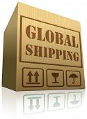 picture of international trade  - global shipping globalization international trade import and export vector icon  - JPG