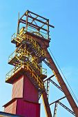 pic of salt mine  - Salt mine shaft on a sunny summer day - JPG