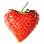 stock photo of heart shape  - Strawberry - JPG