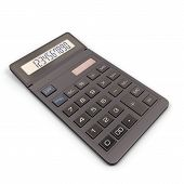 picture of calculator  - Calculator isolated on white background - JPG