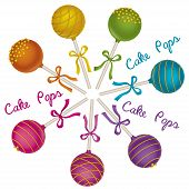stock photo of cake pop  - Set of tasty candy - JPG