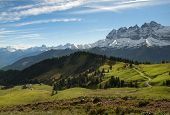 foto of tramp  - picturesque landscapes of national parks in New Zealand - JPG