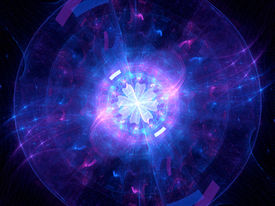 picture of higgs boson  - Glowing Higgs boson computer generated abstract background - JPG