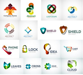 picture of logo  - Abstract company logo vector collection  - JPG