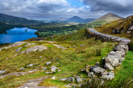 image of nationalism  - View over valley in Killarney National Park Republic of Ireland - JPG