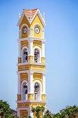 picture of playa del carmen  - Old Spanish bell tower near Playa del Carmen Mexico - JPG