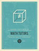 picture of tutor  - vintage poster for math tutors vector illustration - JPG