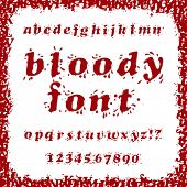 picture of bloody  - Bloody Splash Font Set - JPG