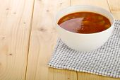 pic of vegetable soup  - Homemade vegetable soup in a soup bowl - JPG