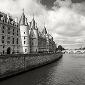 picture of royal palace  - Conciergerie castle is a former royal palace and prison in Paris France - JPG