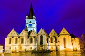 stock photo of evangelism  - Evangelic cathedral in Sibiu - JPG