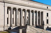 picture of ionic  - minnesota judicial center building facade ionic columns stairs and entrance former home of minnesota historical society adjacent to state capitol - JPG