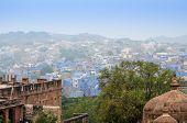 stock photo of raja  - Jodhpur the blue city in Rajasthan state in India - JPG