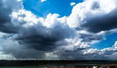 pic of cumulus-clouds  - The rays of the Sun - JPG