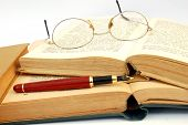 Vintage Books, Glasses And Pen #3
