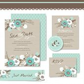 picture of invitation  - Set of wedding invitation card - JPG