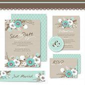 picture of garden-art  - Set of wedding invitation card - JPG