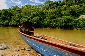 Canoe in Amazon Rainforest