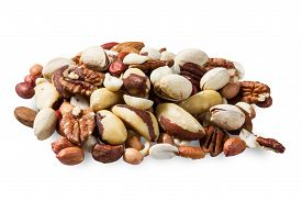stock photo of pine nut  - made from mixed kinds of nuts  - JPG