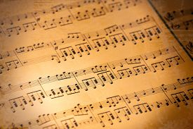 pic of musical scale  - Music notes background - JPG
