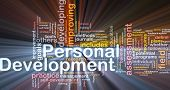 stock photo of self assessment  - Background concept wordcloud illustration of personal development glowing light - JPG