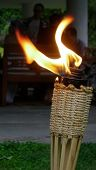 pic of citronella  - burning tiki torch with party in the background - JPG