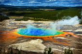 Grand Prismatic Pool at Yellowstone National Park Colors poster