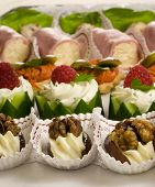 image of crudites  - Delicious party snacks on a platter for a party