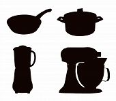 foto of cake-mixer  - Kitchenware Silhouette  - JPG