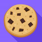 Homemade Biscuit Icon. Flat Illustration Of Homemade Biscuit Vector Icon For Web Design poster