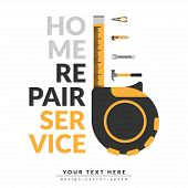 Home Repair Service Template With Logo And Copy Space For Your Text Or Company Name. Home Repair Ser poster