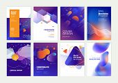 Set Of Brochure, Annual Report, Flyer Design Templates In A4 Size. Vector Illustrations For Business poster