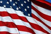stock photo of american flags  - photo of us flag - JPG