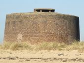 stock photo of martello  - A Martello tower fort at Clacton Essex - JPG