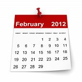 stock photo of february  - Simple Calendar 2012 Concept - JPG