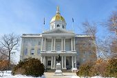 New Hampshire State House In Winter, Concord, New Hampshire, Usa. New Hampshire State House Is The N poster