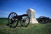 image of yanks  - Napoleon 12 lb cannon near Peach Orchard Gettysburg National Historical BattlefieldPennsylvania - JPG
